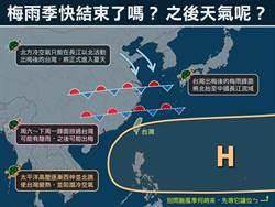 台灣要出梅了?專家曝未來天氣趨勢