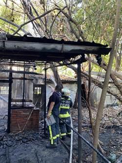 再半年邁入百年歷史! 刑務所官舍群1棟建築被燒毀