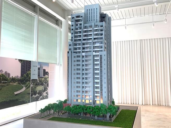 「富貴中山」將興建地上23層,外觀將呈現出有如日月潭湖水色澤。/圖業者提供