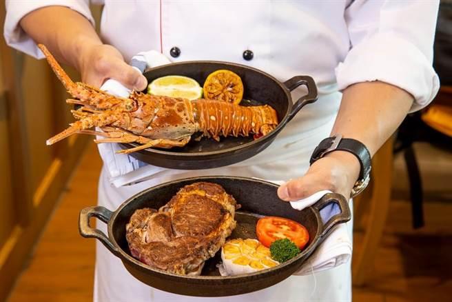 台北六福萬怡酒店推出「超值海陸饗宴 住房專案」,雙人在大廳酒吧享用現點現做的和牛龍蝦雙饗餐,當晚直接在雙人卓越客房度過,雙人價只要4