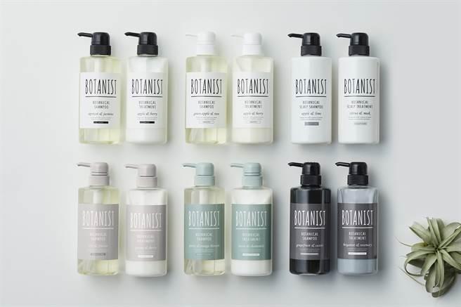 BOTANIST植物性系列6款洗護產品,給秀髮全方位專屬體驗。(圖/品牌提供)