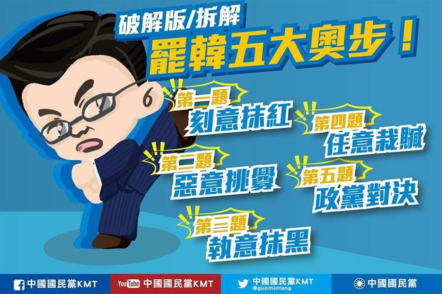 國民黨提破解罷韓5大奧步。(取自中國國民黨KMT臉書粉絲專頁)