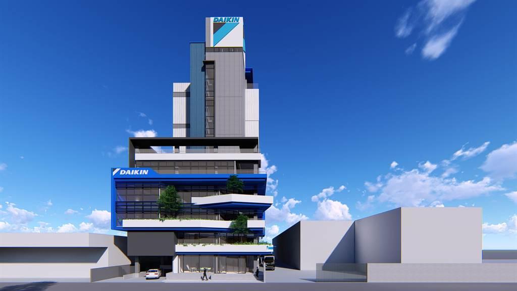 和泰興業斥資5億元,將位於彰化市的「起家厝」、中部分公司,改建成地上9層、地下1層的大樓。(彰化縣政府提供/吳敏菁彰化傳真)