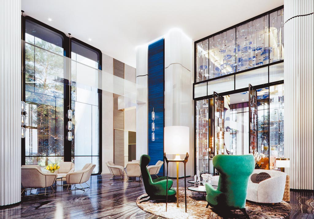 「精銳Garden One」新案與自然綠意結合,打造「綠奢華」住宅。圖/黃繡鳳