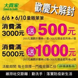 搶搭解封後的振興經濟列車  大買家推滿3000送500