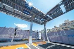 重電業首家 華城打造電動車充電站