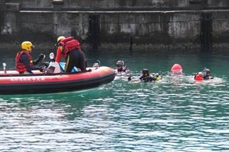 海平面下能量展現 新北潛水搜救演練