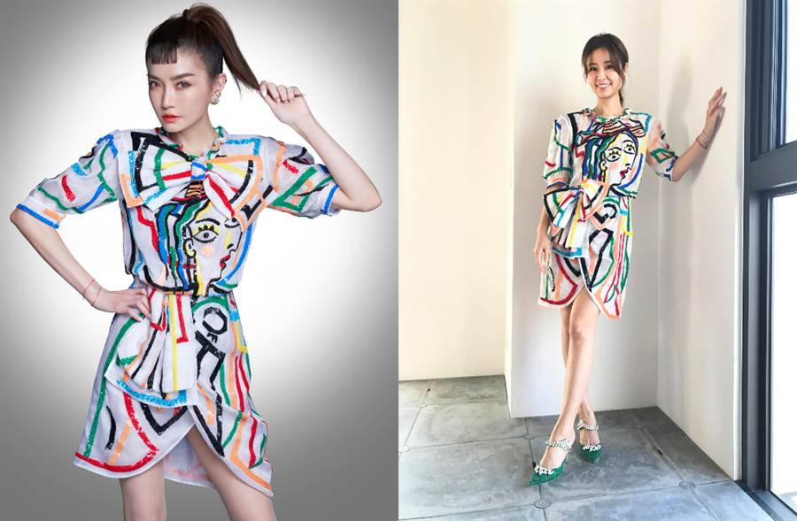 姐姐謝金燕、林心如都穿 MOSCHINO 春夏系列搶當大藝術家(圖/品牌提供)