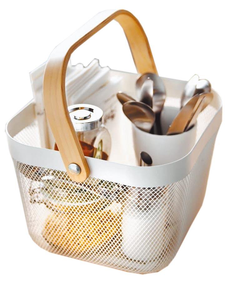 IKEA RISATORP置物籃有多種顏色可選擇,適中的尺寸大小可應用於各式空間。(IKEA提供)