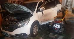 不滿遭鄰砸車想報復 女找錯門牌無辜住戶2車被燒
