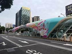 台灣大道秋紅谷公車專用道站體 台中購物節打卡新亮點