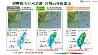 未來一周天氣曝光 這2天鋒面接近防雷雨彈