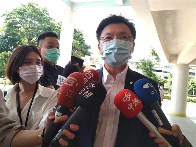 對於今天罷韓投票結果,趙天麟表示非常樂觀。(林雅惠攝)