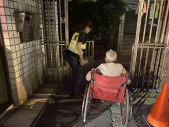 老翁凌晨坐輪椅覓食警護送返家
