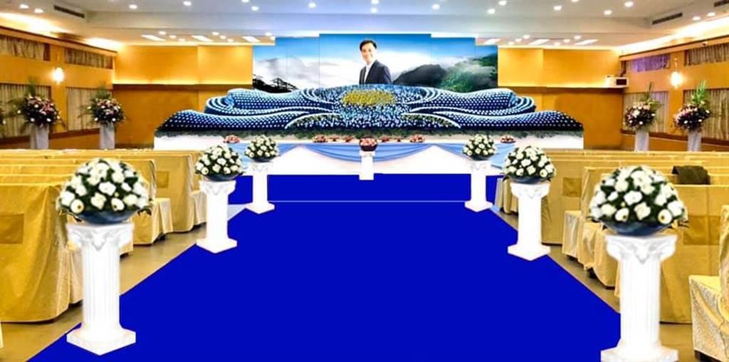 許議長追思靈堂設於高雄市立第一殯儀館景行廳。(圖/摘自高雄市議會副議長陸淑美FB)