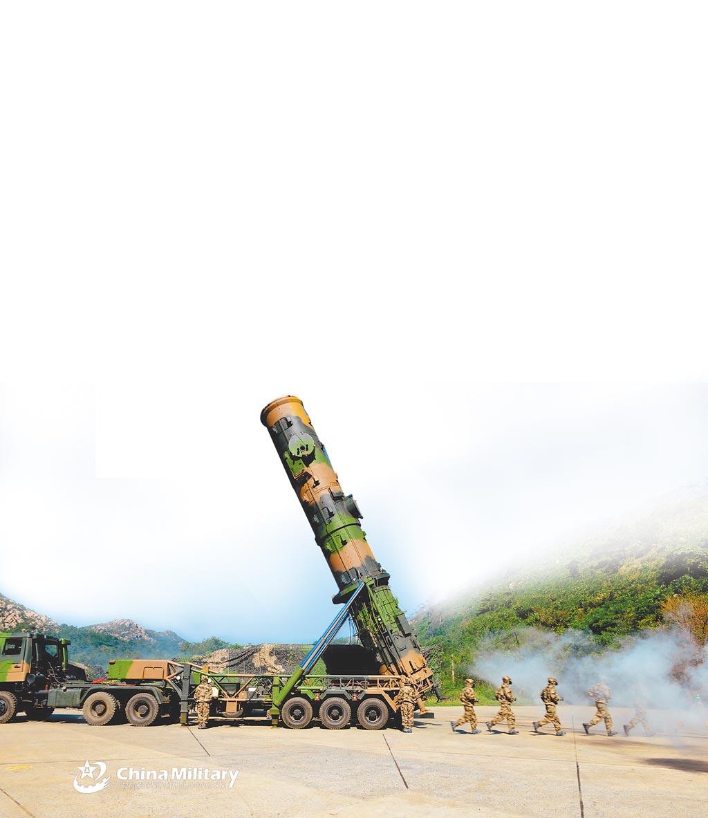 解放軍發展多款飛彈。圖為東風-21A飛彈。(取自中國軍網)
