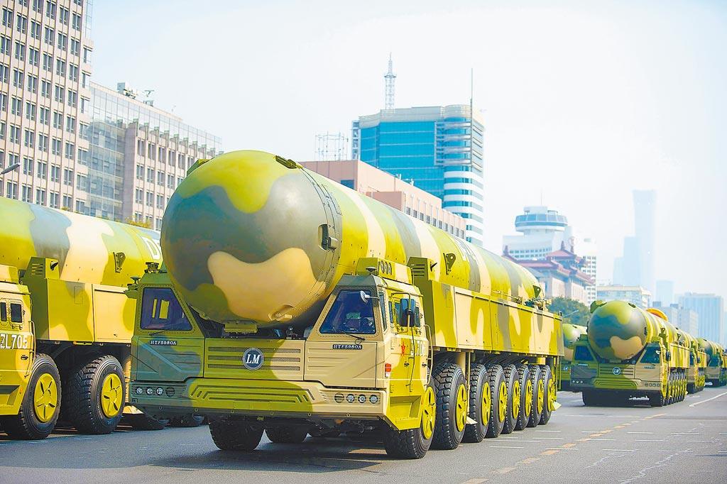 東風-41洲際彈道飛彈。(新華社資料照片)