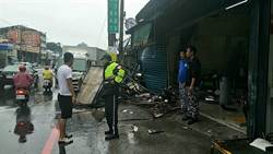 小貨車打滑衝入八里麵攤  司機過失傷害遭訴