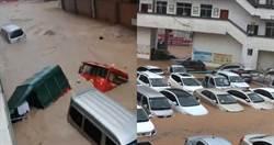 滾滾洪水「沖走愛車」!大陸南方遭暴雨襲擊…北方飆破41度高溫