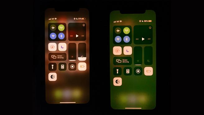 網路上不少 iPhone 11 系列手機出現綠螢幕災情。(摘自MacRumors)