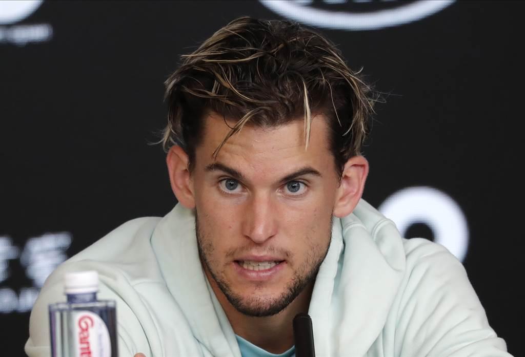 提姆認為要追上網壇三巨頭費德勒、納達爾及喬柯維奇在四大賽的冠軍數目,是很難實現的任務。(資料照/美聯社)