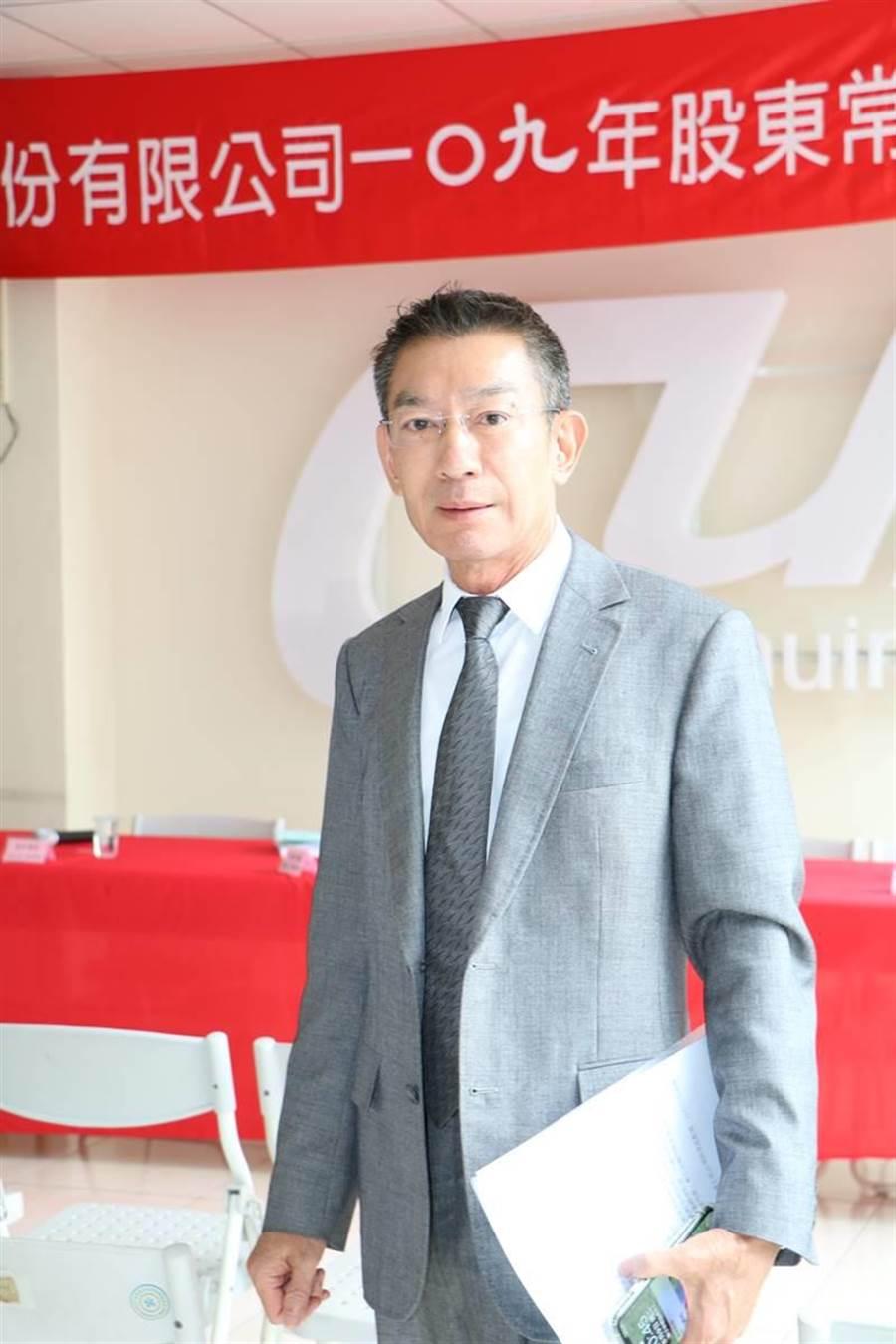 為升電裝董事長尤山泉。(圖/劉朱松)