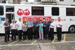 金山分局警挽袖捐熱血歡慶警察節 局長陳永昌親率帶頭號召捐血