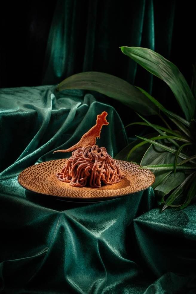 新光三越台北信義新天地A4「Chope Chope Eatery」,美祿恐龍360元。(新光三越提供)