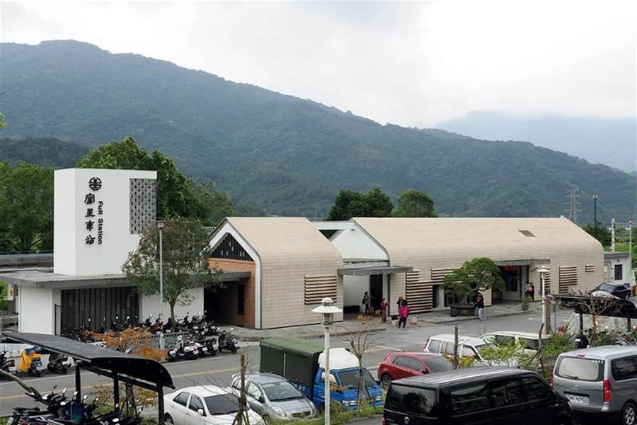 雅致小巧的富里車站,真心獲得當地人的喜愛,也是富里的新景點。 (圖/林格立 台灣光華雜誌提供)
