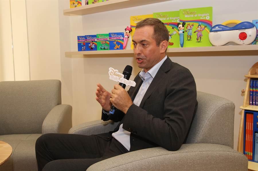 寰宇家庭副總裁 Thomas Hayton認為家長捨得給孩子最好的教育資源,看好台灣市場。