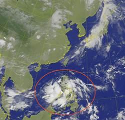 菲律賓東方熱擾動明後天恐成颱  這兩地區嚴防降雨