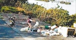 東螺溪河岸 清出20多噸垃圾