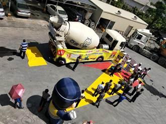 中華西路屢傳死亡車禍 台南市交大進水泥車廠宣導內輪差死角