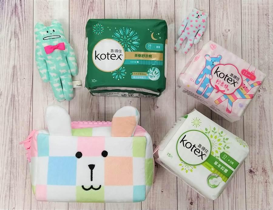 衛生棉Kotex攜手宇宙人 卡哇伊搶市。(Kotex提供)
