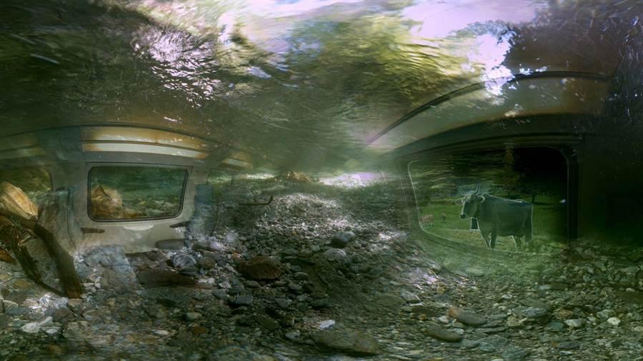 「VR全浸界」蒐羅國際精彩作品,《GO》為遇上山難彌留之際時閃現的回憶。(台北電影節提供)