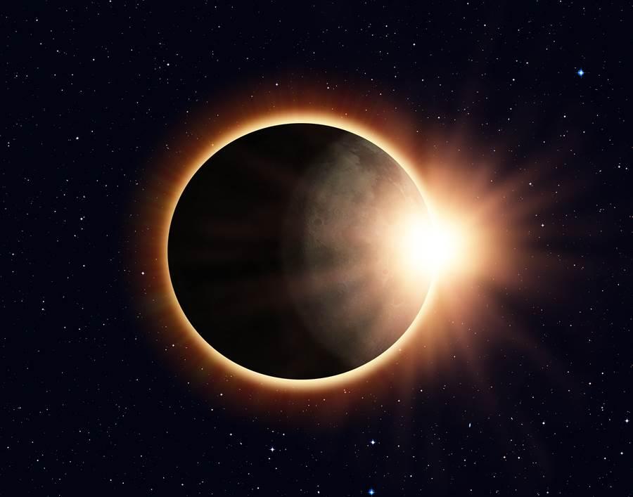 台灣2020年度盛事,本土日環蝕將在6月21日(周日)下午發生,難得有機會可以在台灣觀賞「上帝金戒指」的奇景。(圖/Shutterstock)