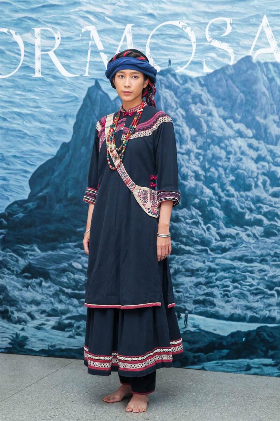 温貞菱在公視《斯卡羅》中飾演有一半排灣族血統的「蝶妹」。(盧禕祺攝)