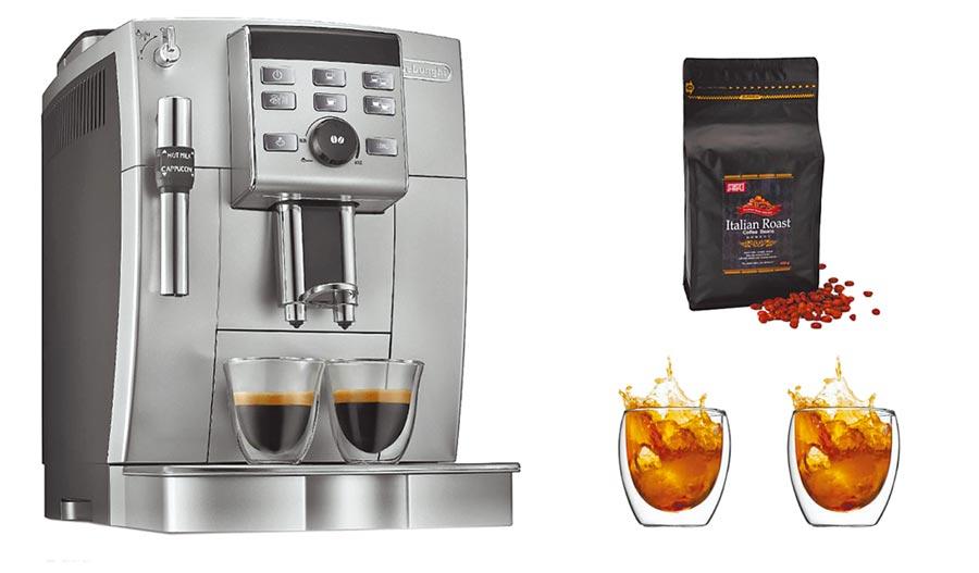 廣三SOGO的Delonghi 全自動咖啡機,原價4萬8000元,特價3萬6000元。(廣三SOGO提供)