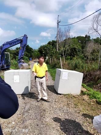 2.3噸水泥磚成路霸 頭屋公所今日依法清除