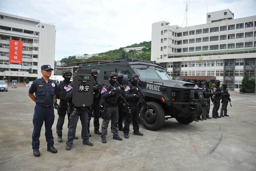 維安特勤隊為國家級反恐特勤部隊,負責全國性反恐行動、反人質劫持、重大暴力案件與高風險治安任務之執行和支援。(警政署提供)