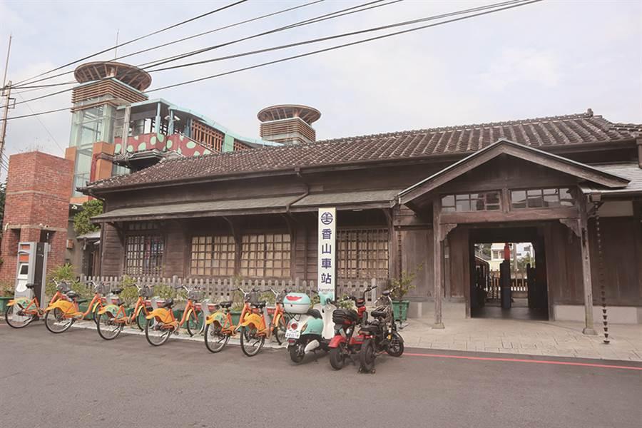 香山火車站站體已有將近百年的歷史,更是新竹的市定古蹟。(圖/IN新竹提供)