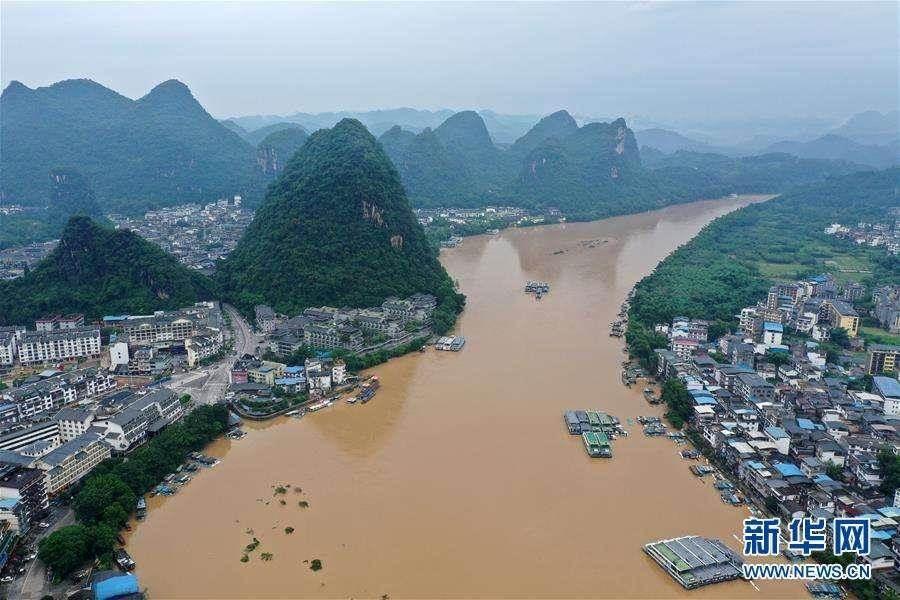 廣西多地遭受嚴重洪澇災害。(新華網)