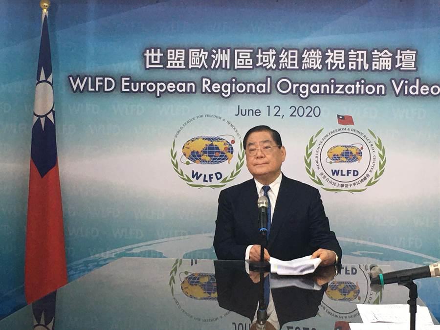 世盟中華民國總會理事長曾永權。(世盟中華民國總會提供)