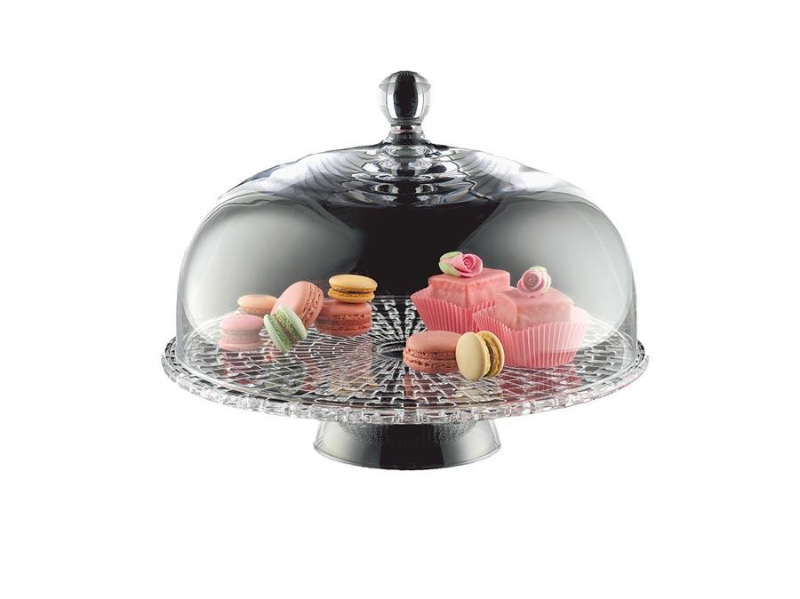 德國Nachtmann巴沙諾瓦蛋糕盤,原價5880元,特價2940元,限量30組 。(旺代企業提供)