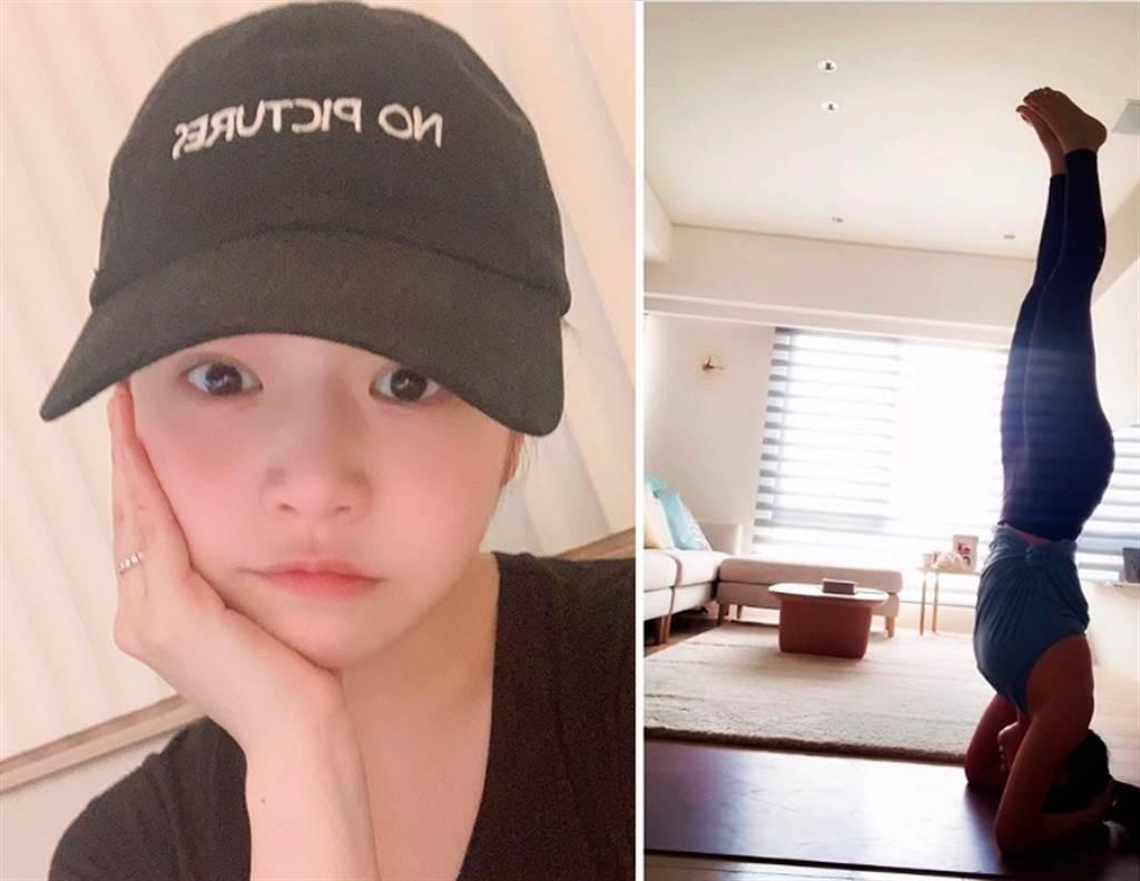 陳妍希在IG自曝「體重創歷史新高」,罕見氣餒地說「可能我不是女藝人吧」。(圖/ 摘自陳妍希IG)