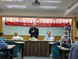 全國各縣市教育施政指標 台北市滿意度最低