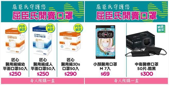 藥妝店「屈臣氏」宣布明(13日)將在門市、線上同步開賣36萬片口罩。(屈臣氏臉書)