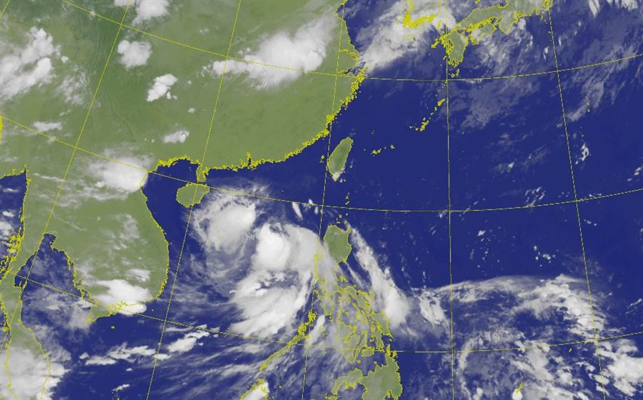 今年第二號颱風「鸚鵡」生成,預計將會直撲港澳地區,但也會對台灣造成間接影響 (圖/氣象局)