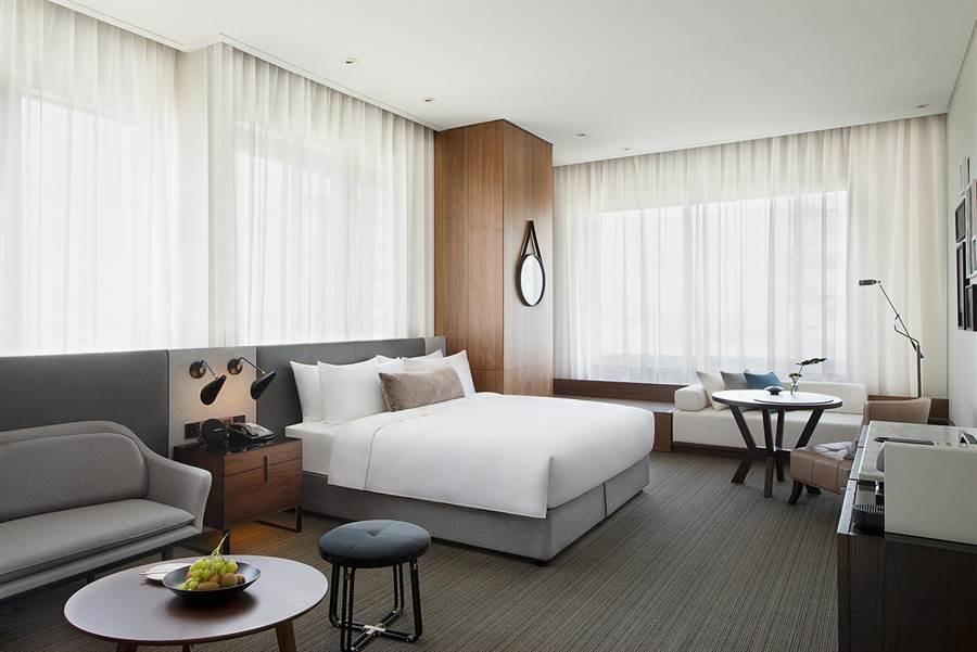新竹英迪格酒店客房。(業者提供)
