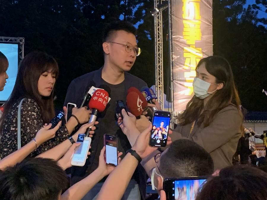 民進黨副秘書長林飛帆今出席「抗爭未完,台港同行」晚會。(林縉明攝)